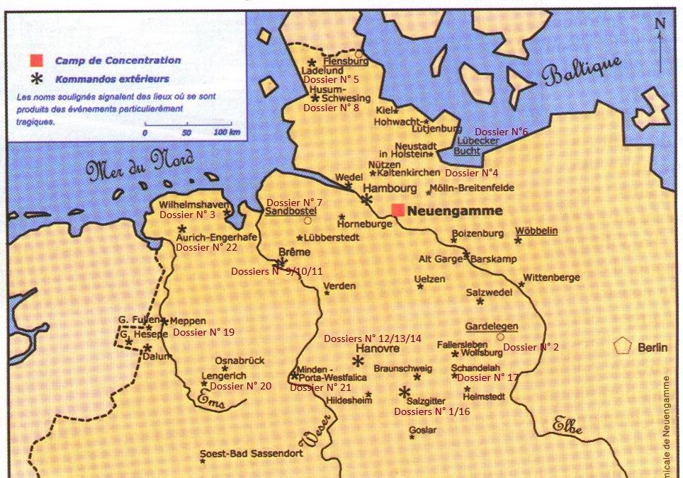 List of files Neuengamme's Kommandos